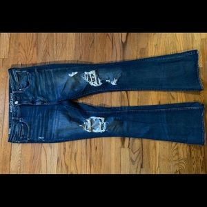 American Eagle Outfitters Jeans - NWOT American Eagle Destroyed Hi-Rise Slim Flare